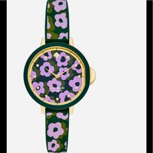 kate spade park row floral silicone watch🌸